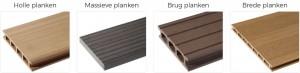 Soorten Envirodeck houtcomposiet planken